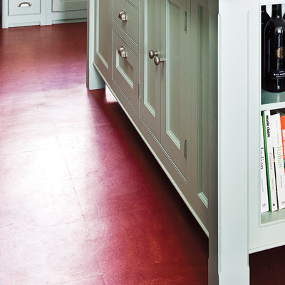 Red kitchen floor tiles modern diy art designs - Retro flooring kitchen ...
