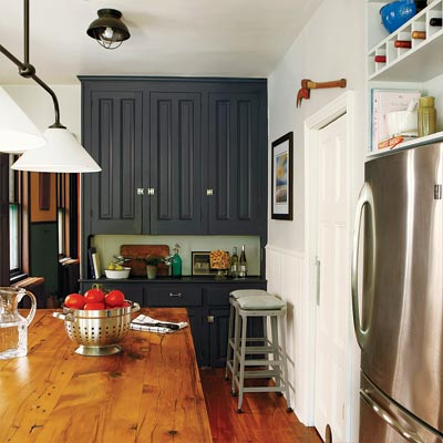 built-in hutch in remodeled kitchen