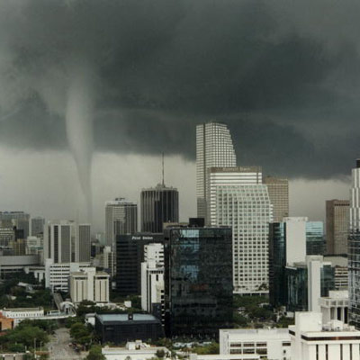 tornado in urban area