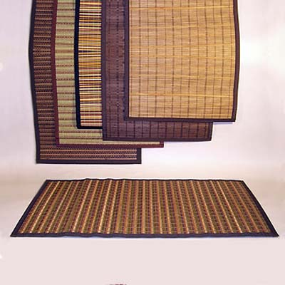 natural bamboo rugs in different colors and styles