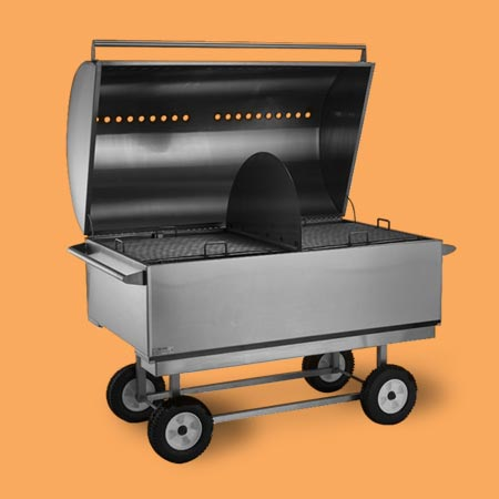 the P.D.Q. Party Cooker reflective heat grill