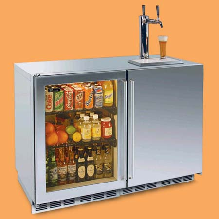 the Perlick outdoor refrigerator with beer tap