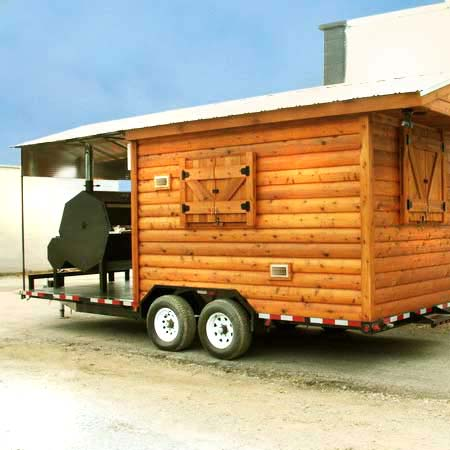 the trailer with a built-in barbecue