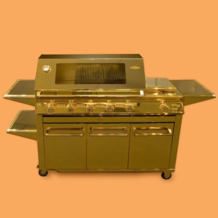 a grill made of gold from Beefeater