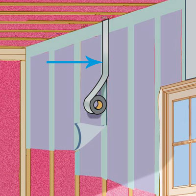 illustration of house with fiberglass insulation and Foil Tape