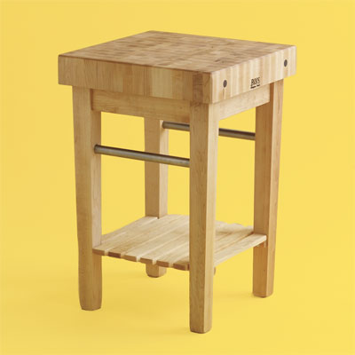 high end butcher-block kitchen worktable