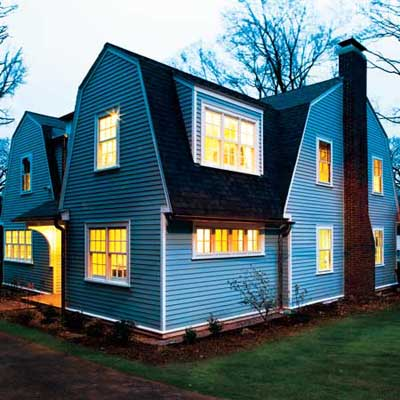 the finished Newton Centre, MA TV project house exterior