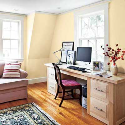 the Newton Centre, MA TV project remodeled home office and guest room