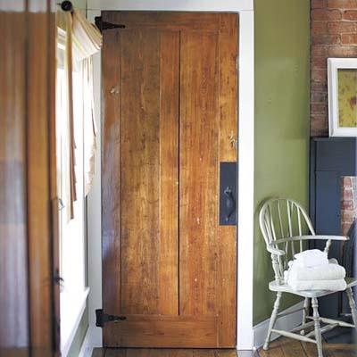 refinished heart-pine door