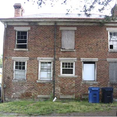 Run-down Purcell house before renovation