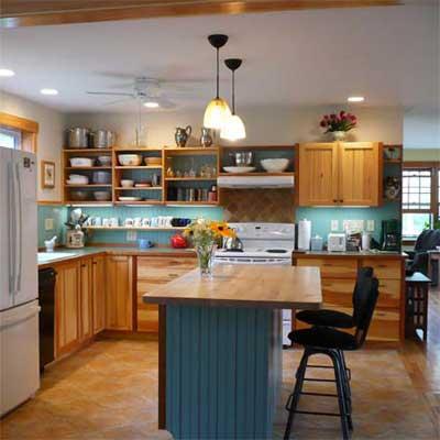 updated kitchen with center island