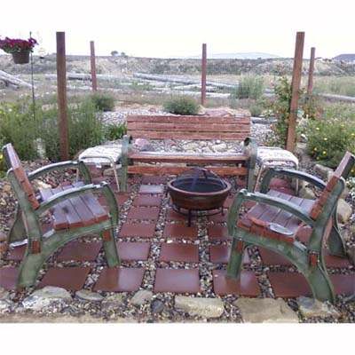 southwestern patio with fire pit