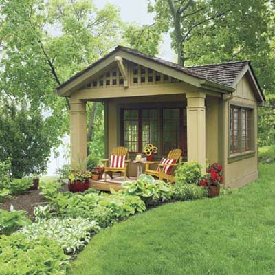 remodeled shed with cottage style
