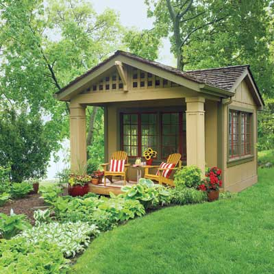 updated shed with columns and deck chairs, editors picks for sheds and outdoor buildings