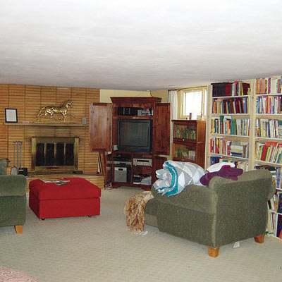 outdated family room