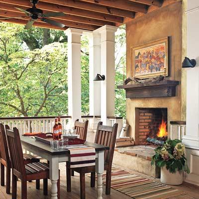 remodeled back porch of cottage