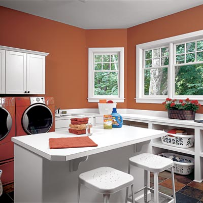 family room laundry room