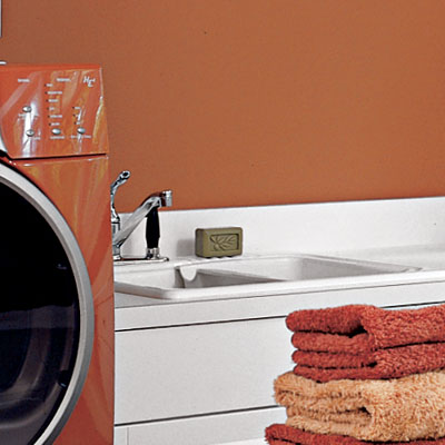 sink in family room laundry room
