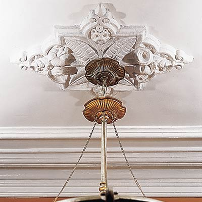 a ceiling medallion for a light fixture or chandelier