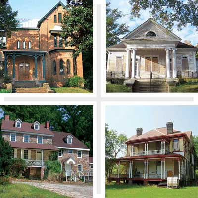 composite of four houses from the save this old house 2010 update