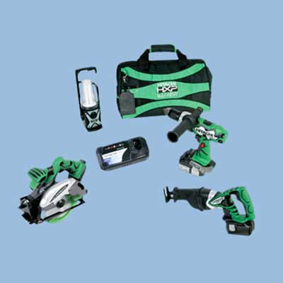 hitachi cordless tool set