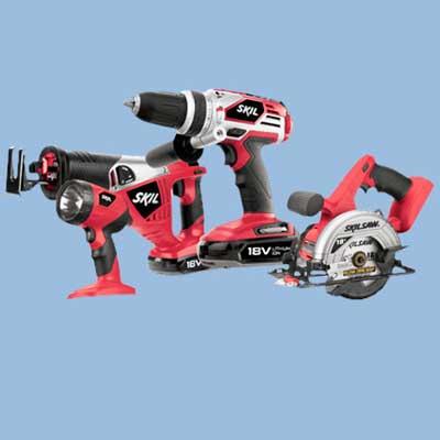 skil cordless tool set