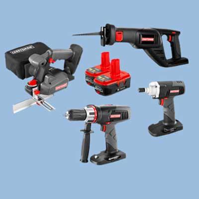 sears cordless tool set