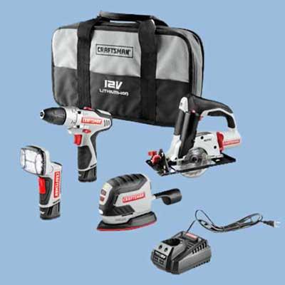 craftsman cordless tool set