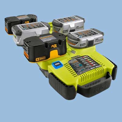 ryobi six port battery charger