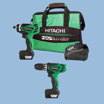 hitachi cordless tool set