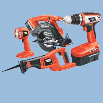 black and decker cordless tool set