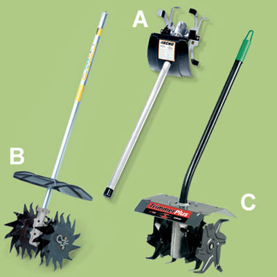 tilling accessories for a multihead trimmer