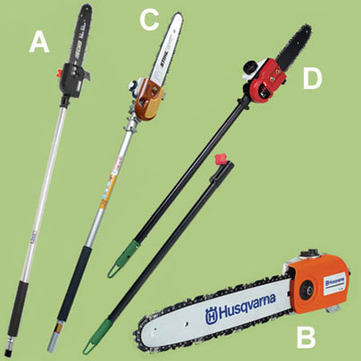 pole saw accessories for a multihead trimmer