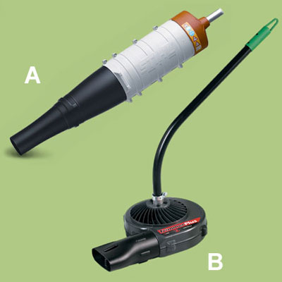blower accessories for a multihead trimmer