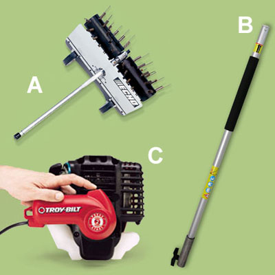 miscellaneous accessories for a multihead trimmer