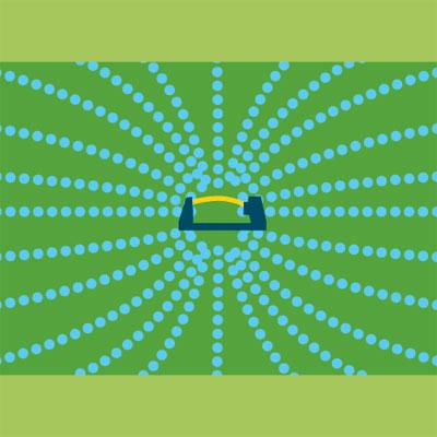 oscillating sprinkler spray pattern