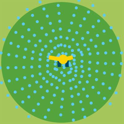 pulsating sprinkler spray pattern