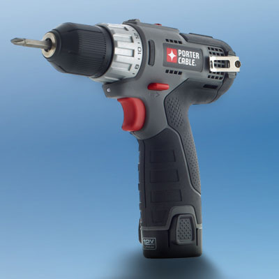 the Porter-Cable PCL120DDC-2 drill/driver