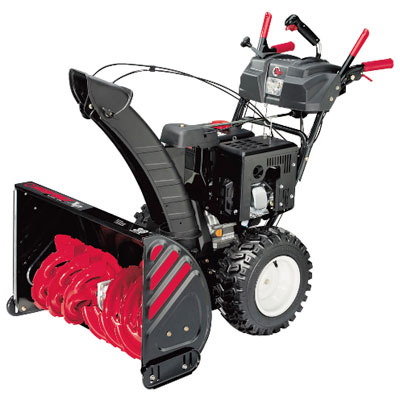 snow thrower from Troy Bilt with power motor