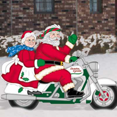 Easy-rider Clauses kit for wood Christmas lawn decoration