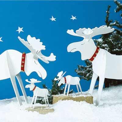 Christmas moose holiday woodworking plans for fun yard Christmas moose home decor