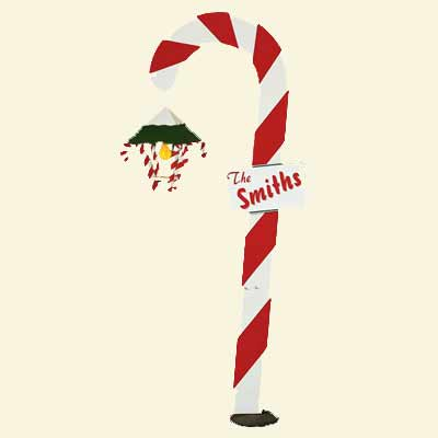 Candy Cane Lantern kit for wood Christmas lawn decoration