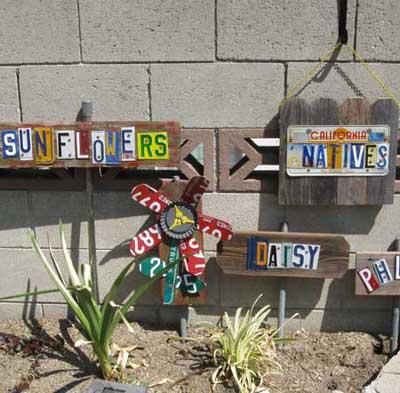 homemade garden markers