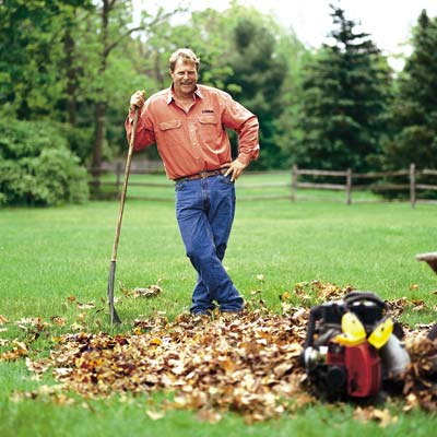 roger cook getting ready for fall yardwork