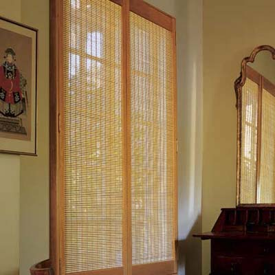 Interior Window Shutters With Fabric Inserts : Interior Shutters