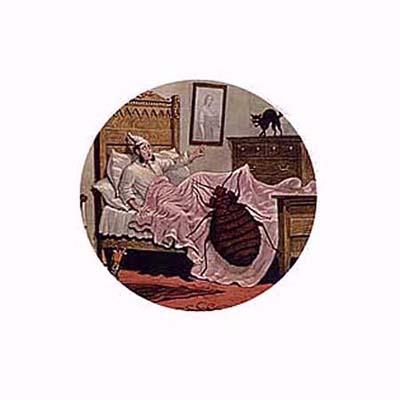 American Magic-Lantern Theater slide of bedbug
