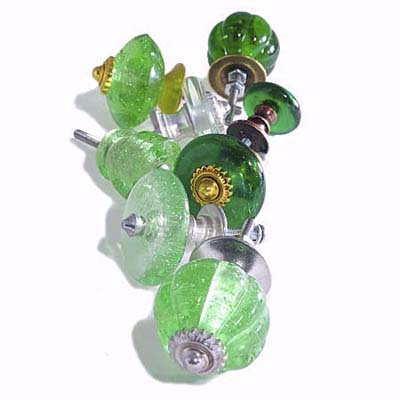 green glass pulls