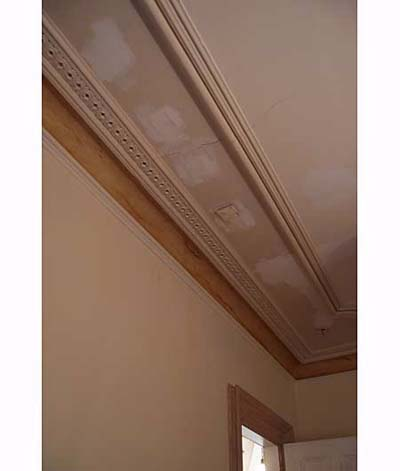 Leak marks in Scott Omelianuk's ceiling