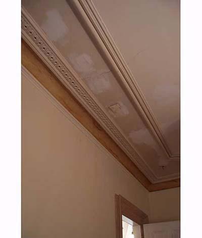 Leak marks in Scott Omelianuk's ceiling