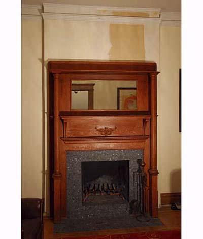 Fireplace at Scott Omelianuk's house